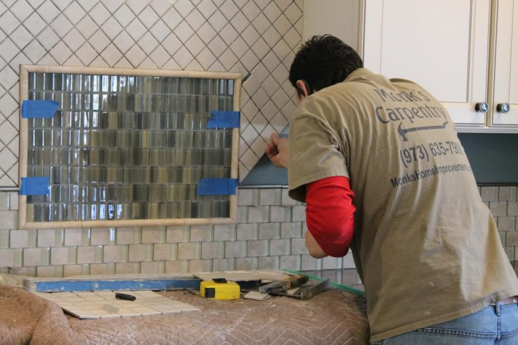 kitchen tile installation