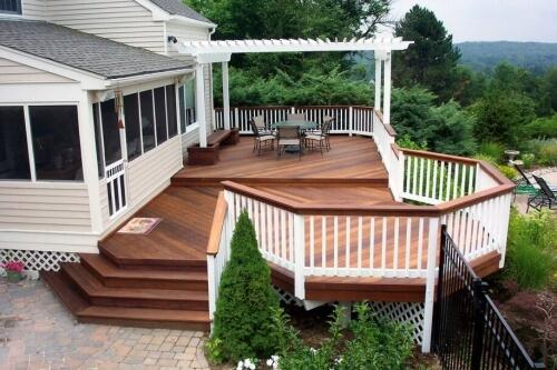 Large Wood Deck