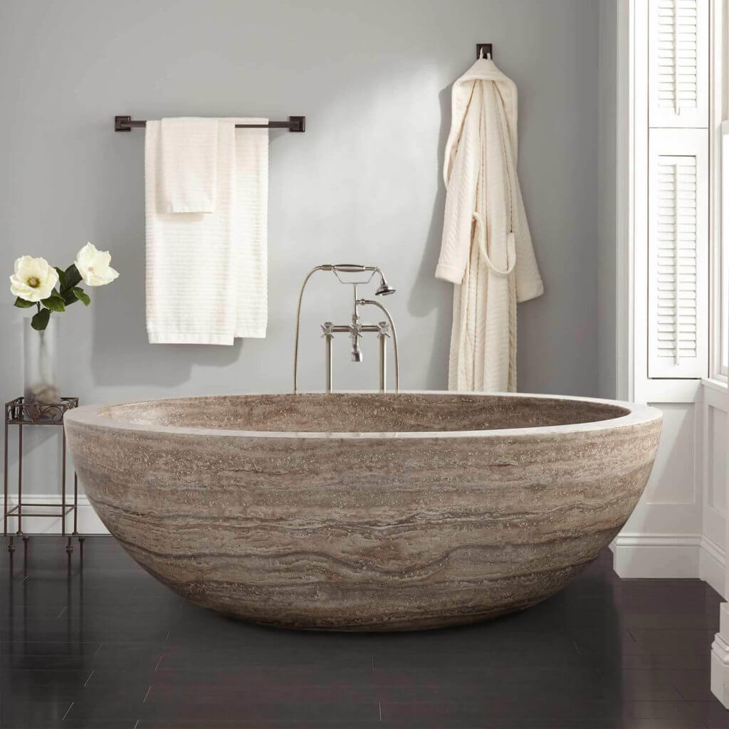 7 best types of bathtubs prices styles pros cons for Best freestanding tub material