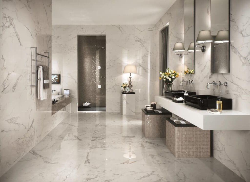 8 tips to choose the best tile floors for every room Master bathroom tile floor