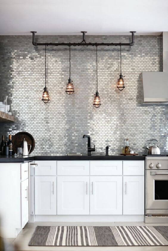 Metalic Kitchen Wall Tile With Kitchen Wall Tiles