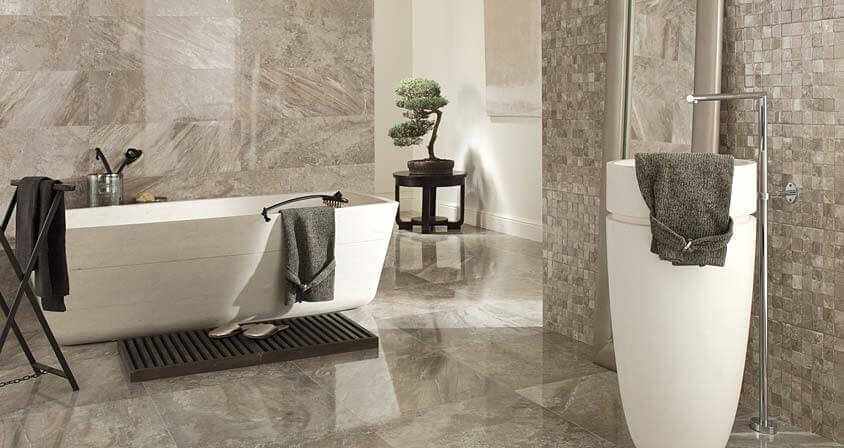 Ceramic Tile Installation Cost In A Modern Bathroom