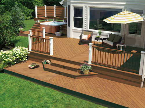 Natural Wood Deck