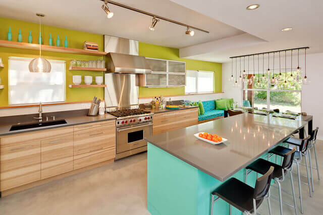 Painting A Contemporary Kitchen   Grass Green And White Paint Colors