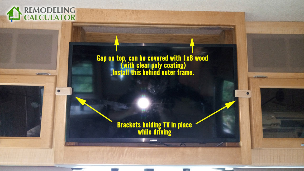 Rv Flat Screen Tv Securing Brackets Prevent Movement While