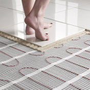 heated tile floor cost