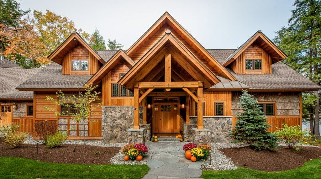 Red Cedar Siding On A Cabin Style Home Remodeling Cost