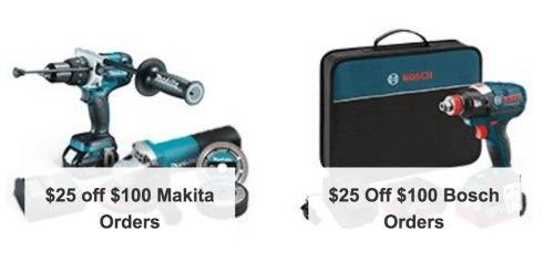 Save $25 on BOSCH and MAKITA power tools - Amazon Cyber Monday 2015