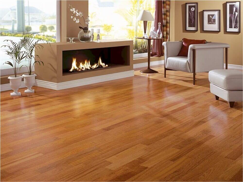 Shiny Hardwood Floors in a modern living room - 5 BEST Flooring Options: Material And Installation Costs