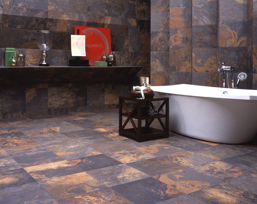 Slate Tile For Modern Bathroom Flooring