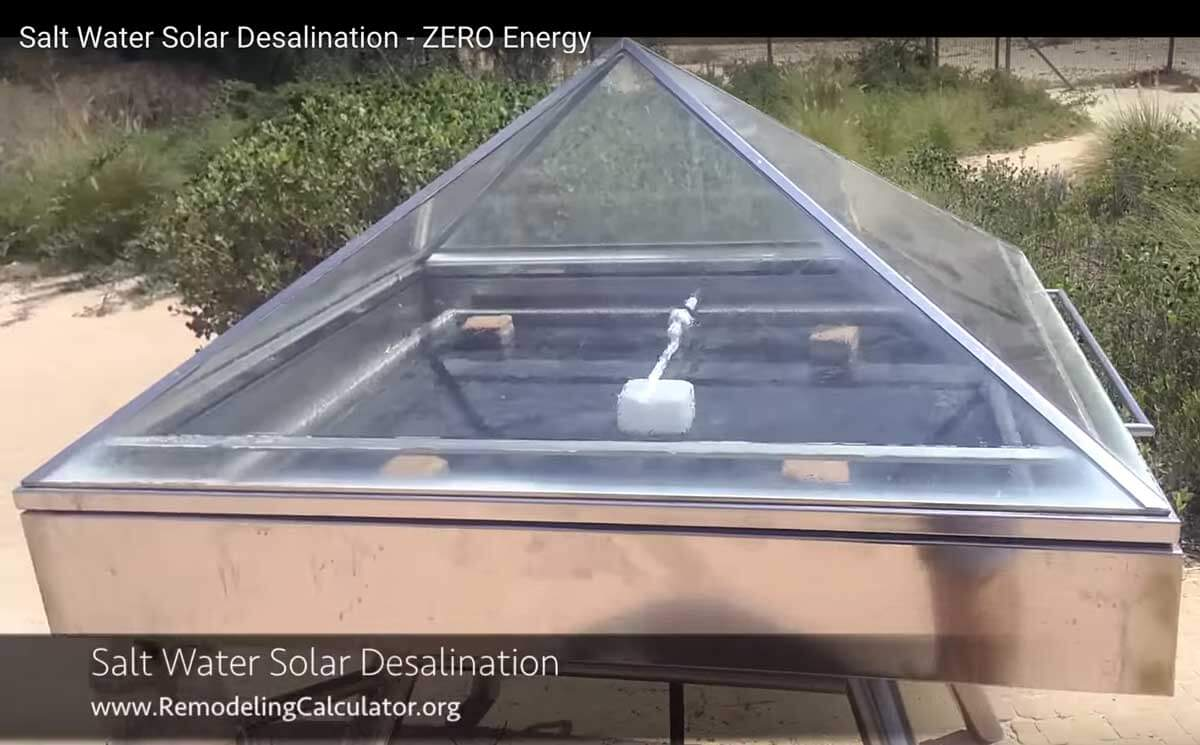 Solar Salt Water Desalination How To Turn Sea Water Into