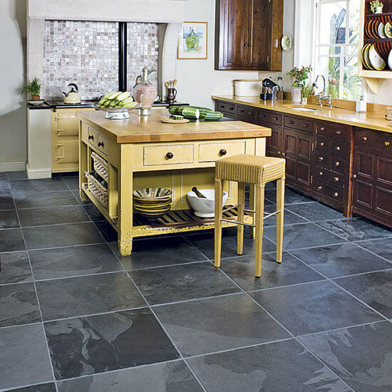 Stone Tile Kitchen Flooring