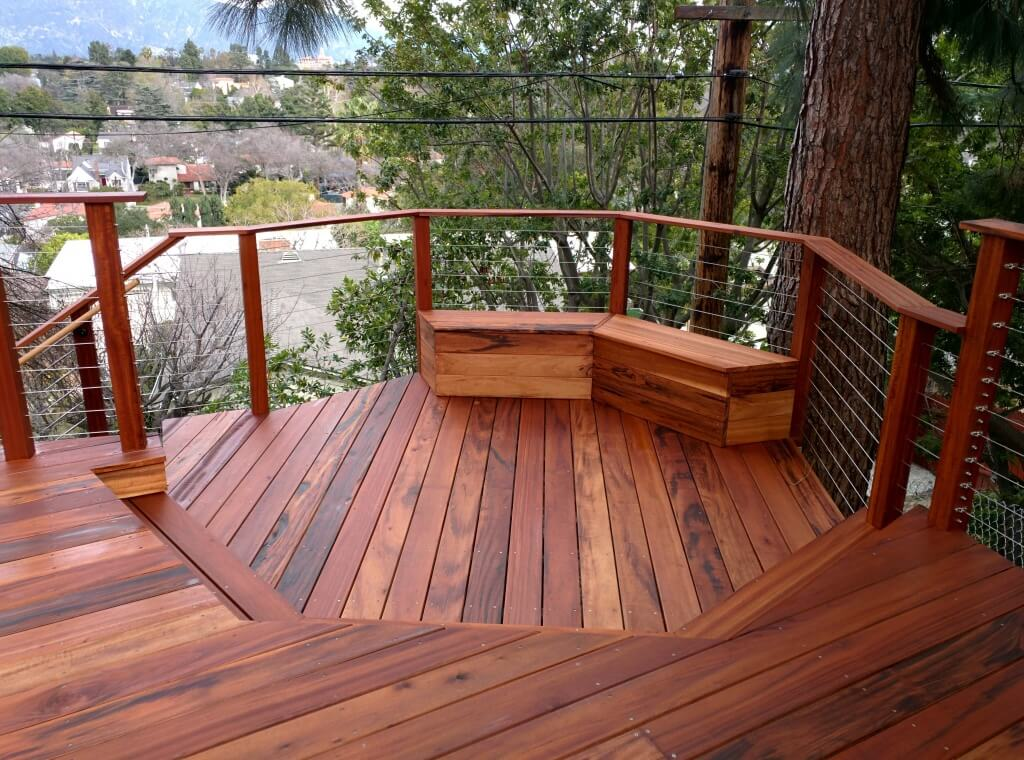 Wood deck installation prices estimate the cost of for Wood stain pros and cons