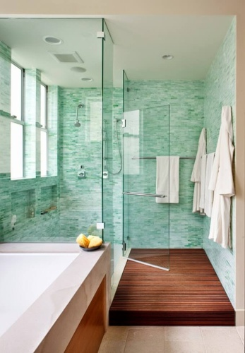 Turquoise Tile bathroom tile installation cost