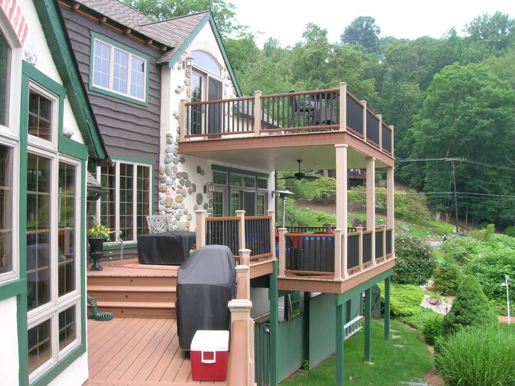 2018 cost to build a deck estimate prices for top for Cost to build a 2 story house