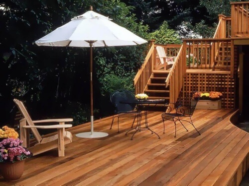 Wood deck installation prices estimate the cost of for Cedar decks pros and cons