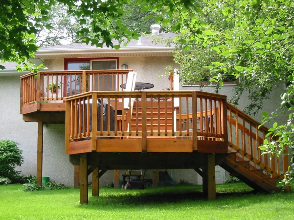 Deck building what will be your return on investment for Deck house designs