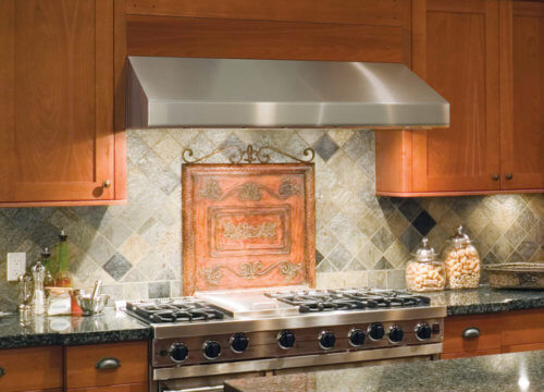 Under cabinet hood stainless steel