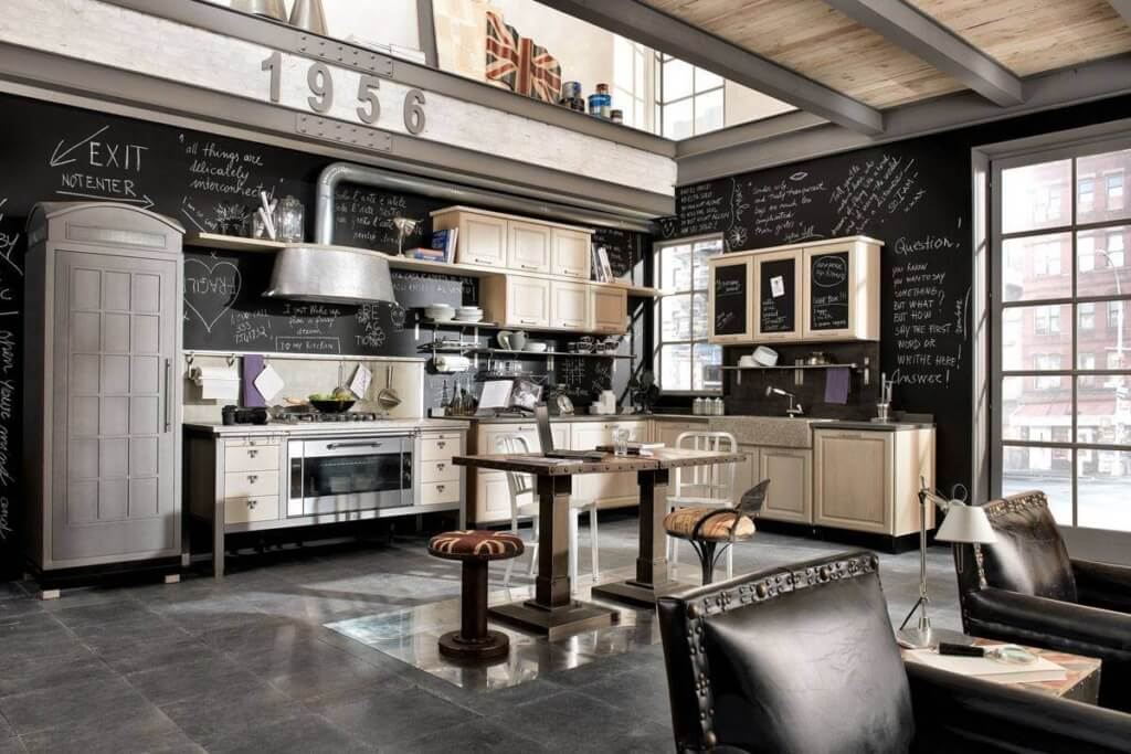 industrial kitchen furniture. Unique Industrial Style Kitchen Furniture