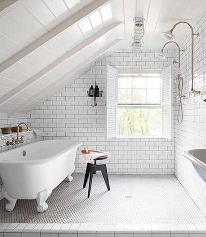White Bathroom in Finished Attic