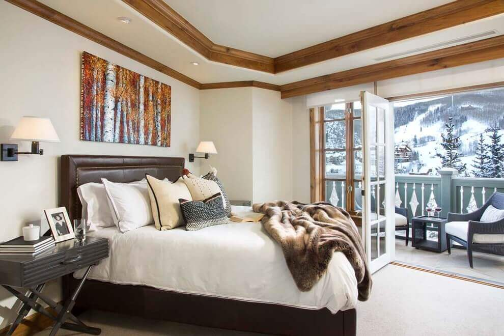 Wood Crown Molding In A Contemporary Bedroom Remodeling