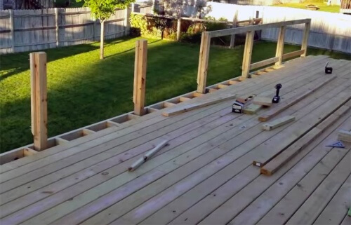 Wooden Deck Railing Posts