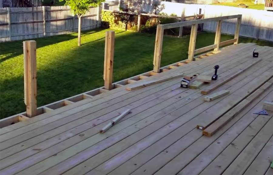 Wooden Deck Railing Posts Remodeling Cost Calculator