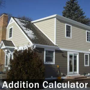 Home addition calculator estimate your cost to build a for Cost to build new home calculator