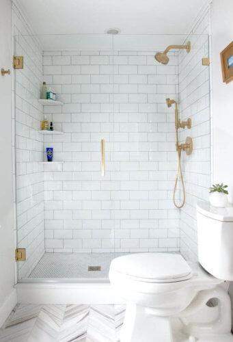 all white small bathroom