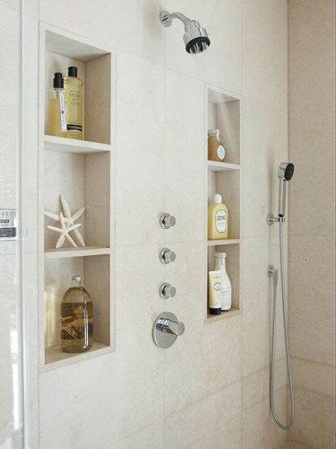 built in shower niche