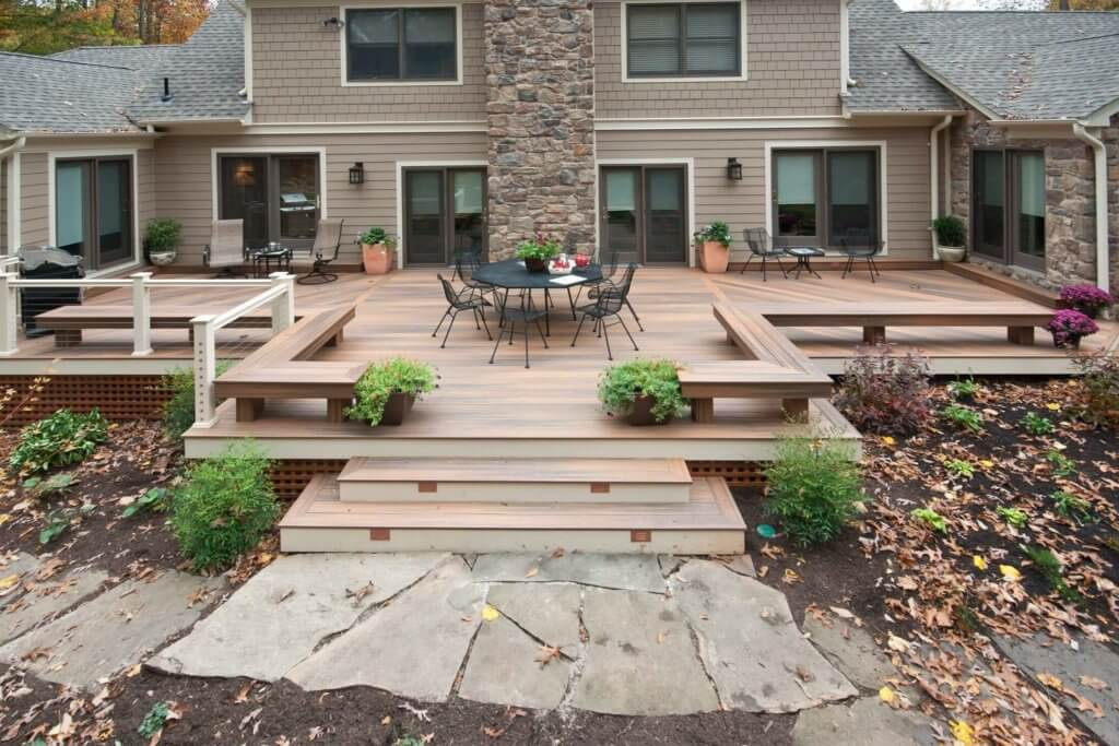Deck Cost Calculator - Estimate Prices For Trex, Composite ... on Backyard Trex Deck Ideas id=95735