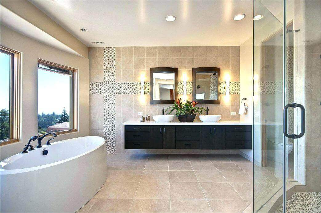 luxury contemporary master bathroom - Remodeling Cost ...